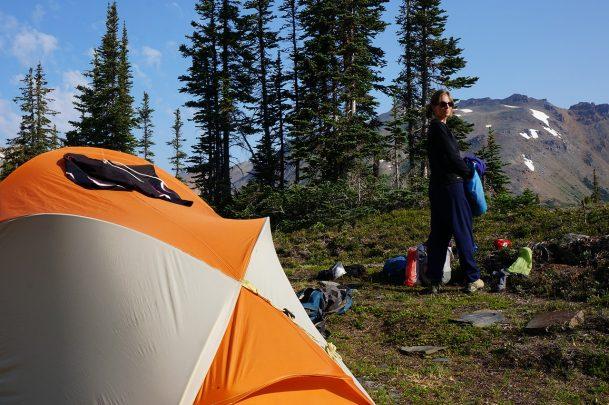 Camping at Holt Lakes near Golden BC