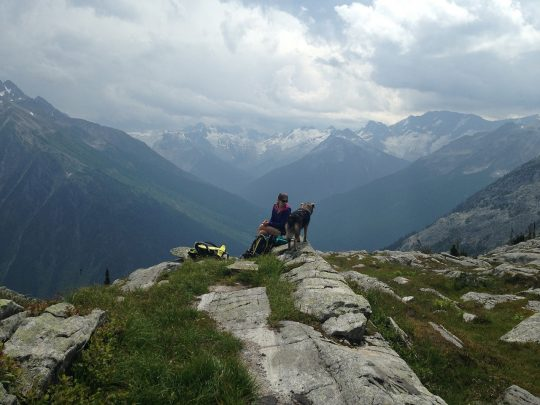 At the top of Hermit Trail in Glacier National Park