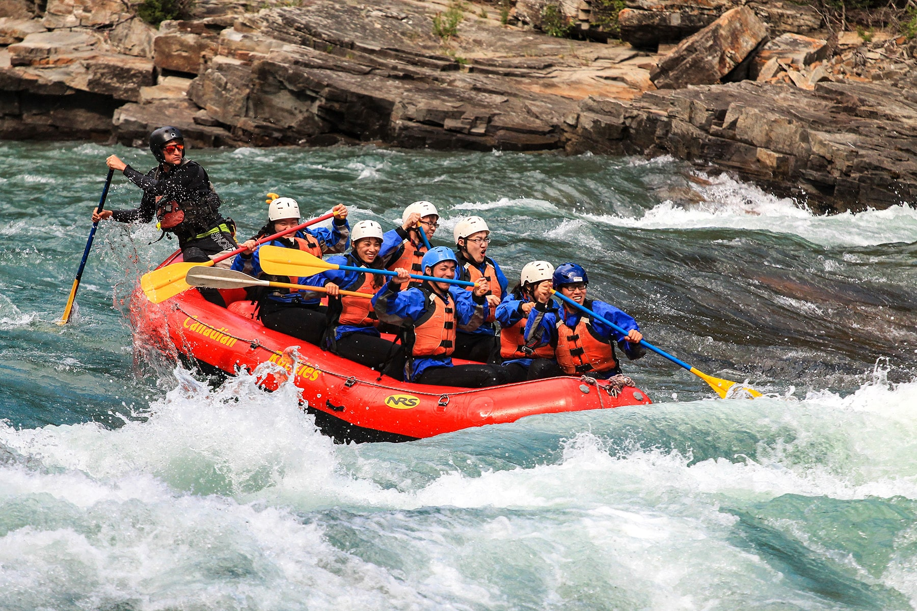 River rafting near Canmore Alberta