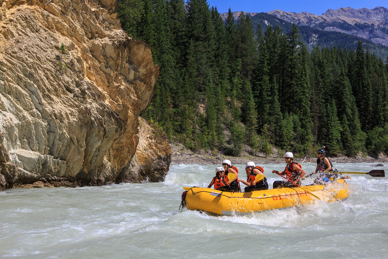 Rafting in the wilderness.