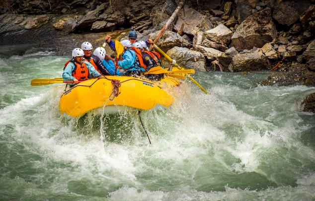 Rafting the Kicking Horse River in Golden BC