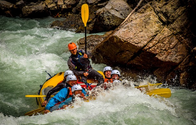 Class 4 rapids in the Lower Canyon of the Kicking Horse River