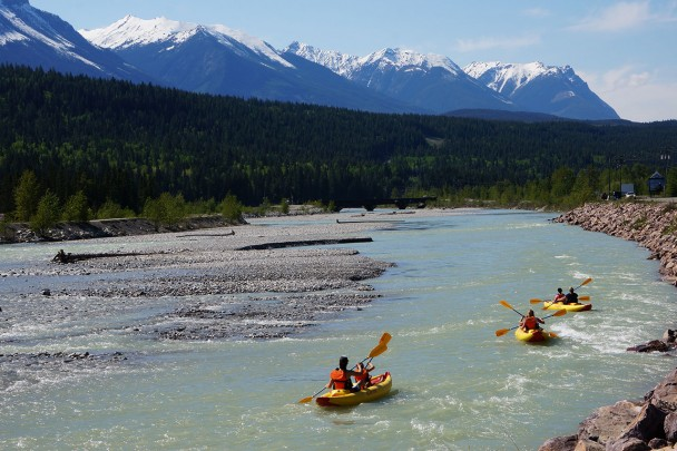 A kayak tour through Golden British Columbia