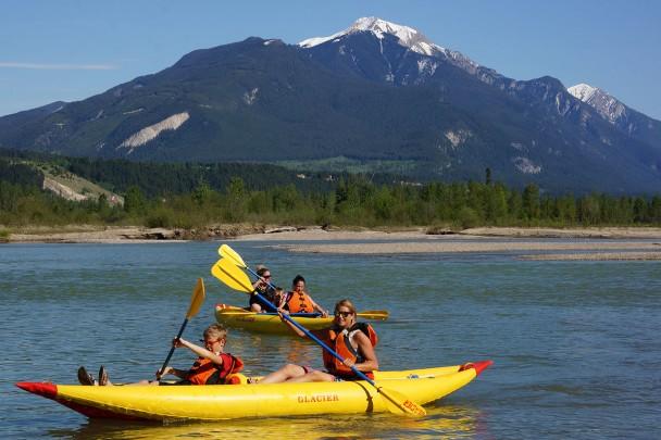 A kayak tour near Banff Alberta