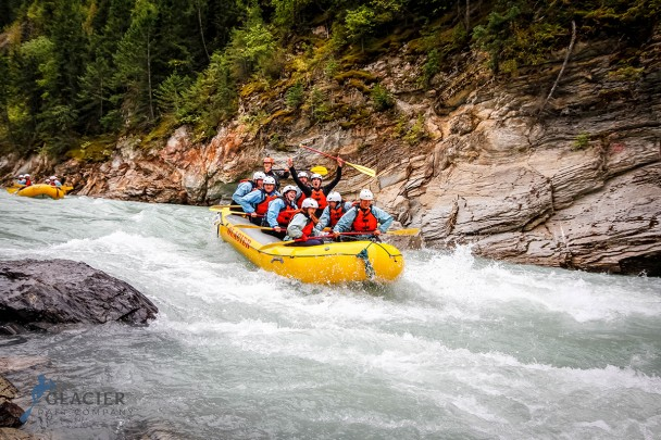Whitewater river rafting in Golden B.C.