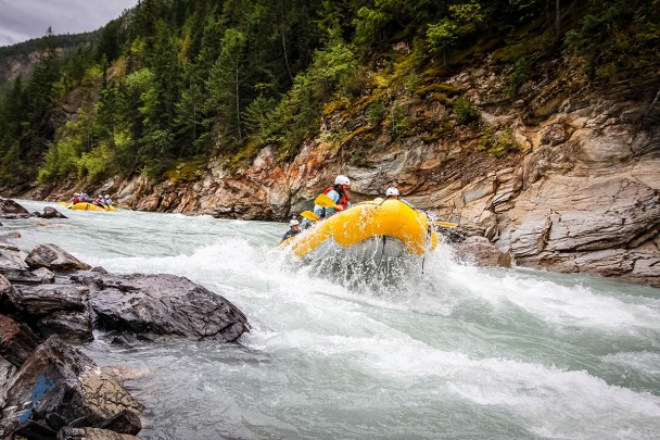 Whitewater rafting the Kicking Horse in Golden BC