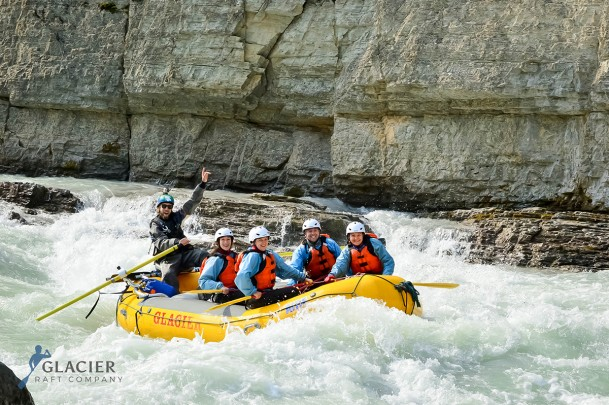 Rafting the Lower Canyon of Kicking Horse River