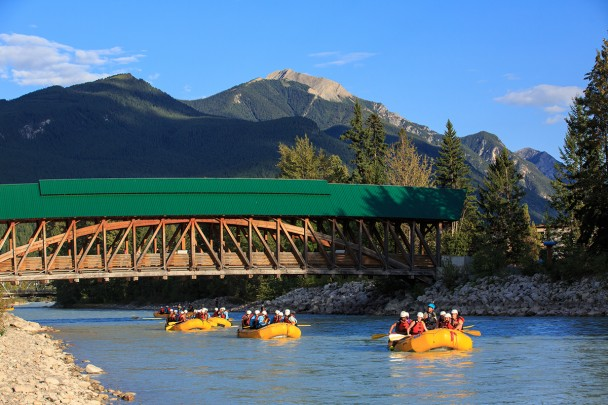 Kicking Horse River rafting in Golden British Columbia