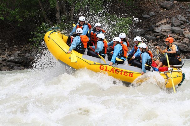 Rafting the biggest and best whitewater on Kicking Horse River