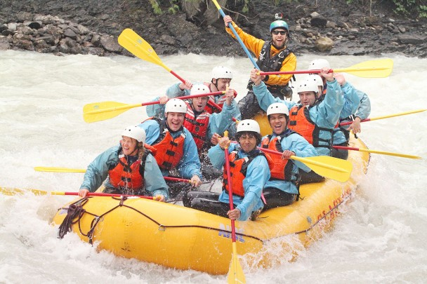 A boatload of repeat guests to Glacier Raft Company