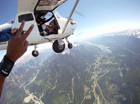 Skydiving in Golden BC