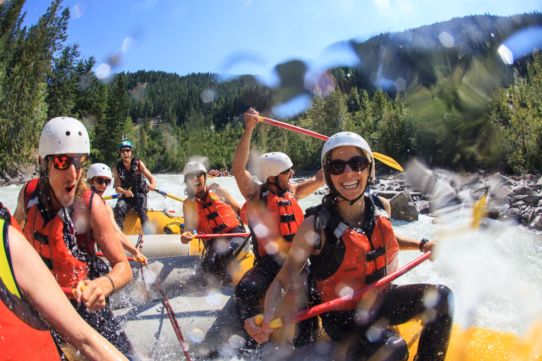 White water rafting with Glacier Raft Company
