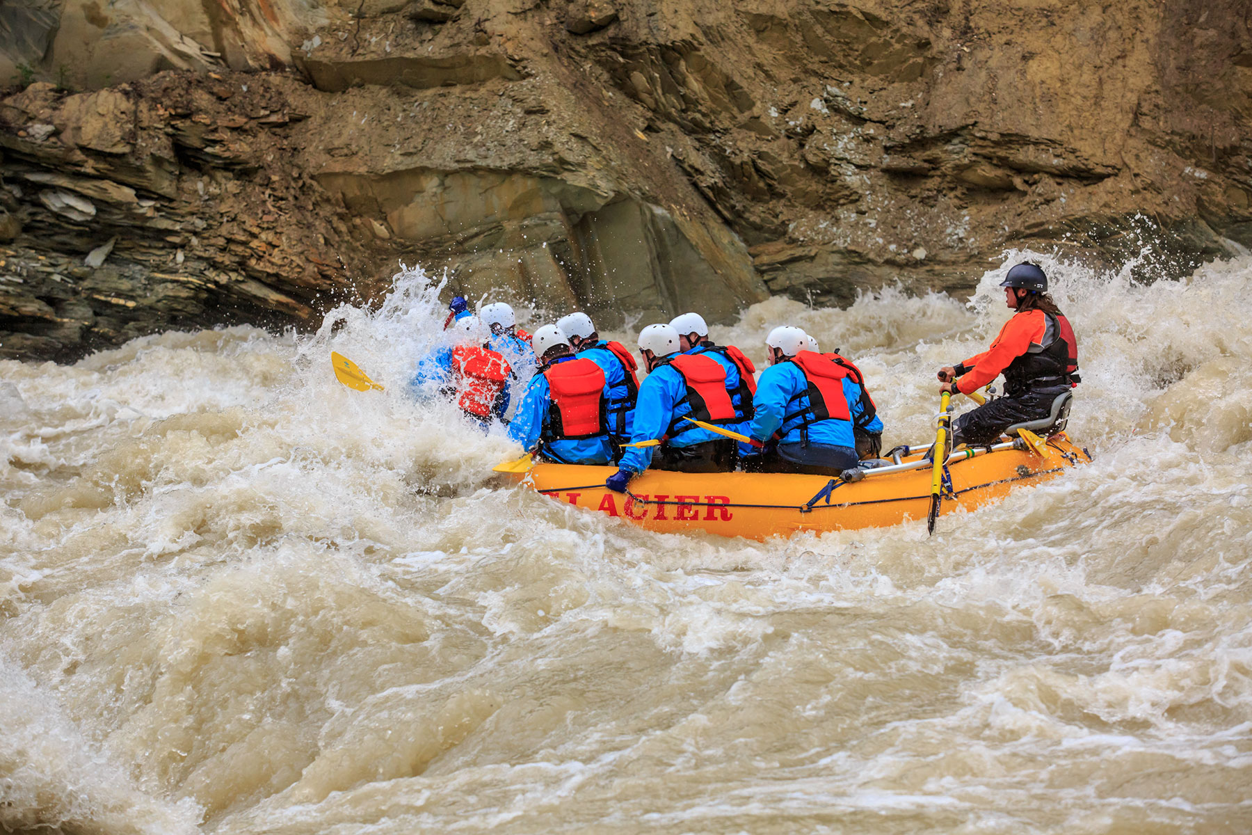 Big hit on the Kicking Horse River
