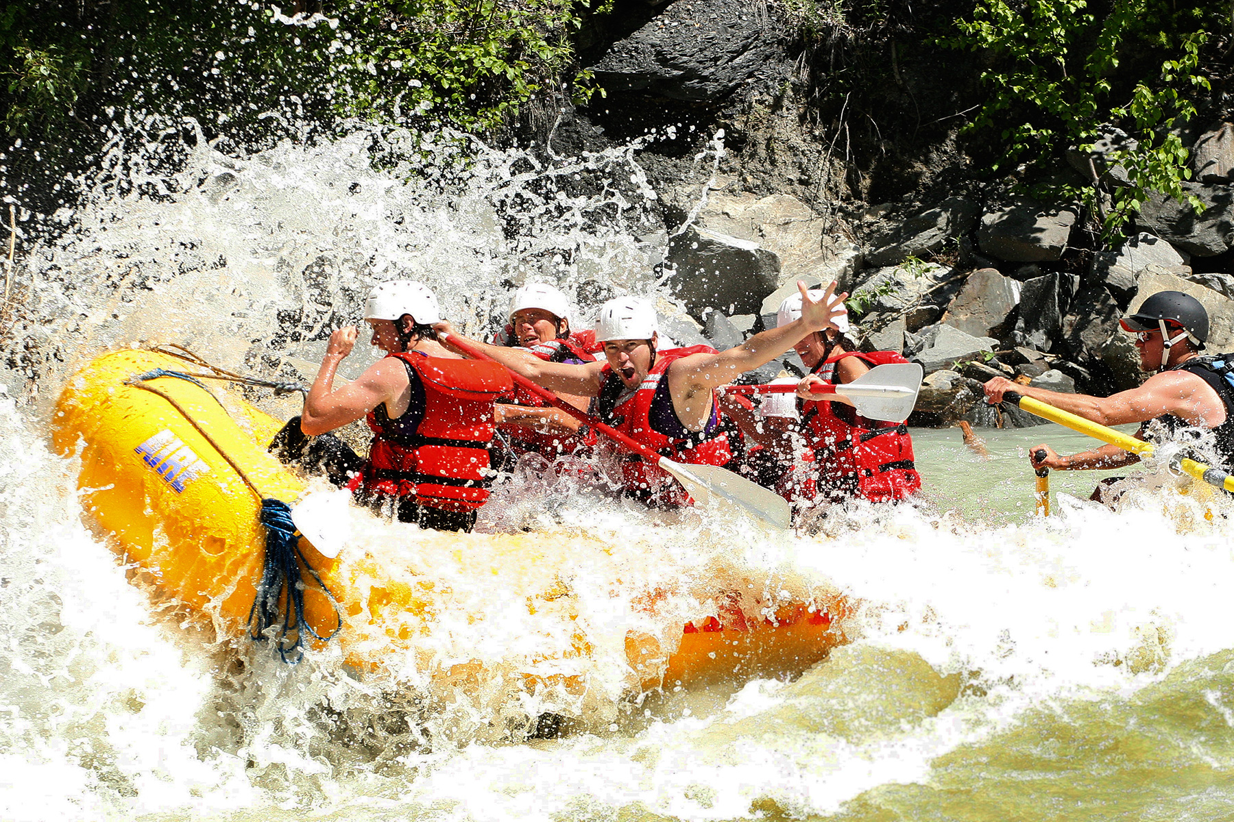 A stag party loving the big white water