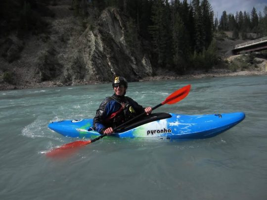 Glacier Raft Company staff kayaking