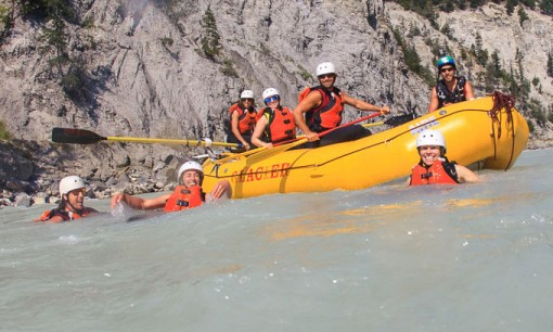 Swimming in the Kicking Horse River, Golden BC