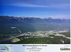 Best Tourist Attraction in Golden BC Award for Glacier Raft Company