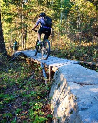 Biking Mountain Shadows Golden B.C.