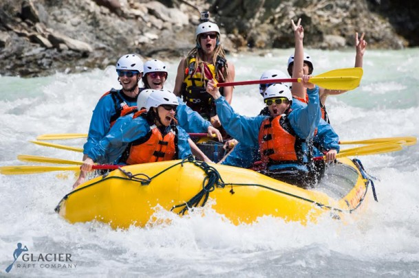 Rafting on the Kicking Horse River
