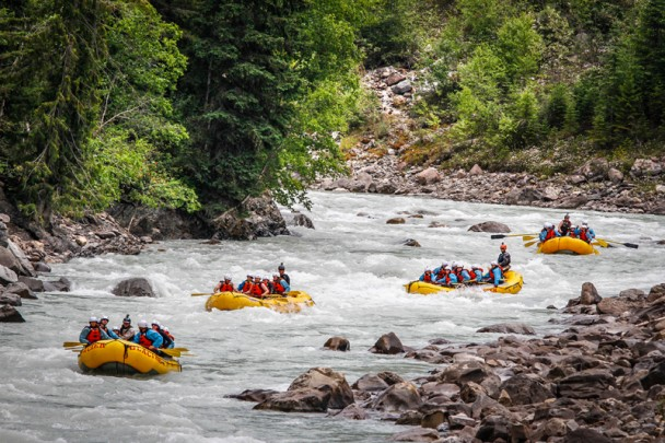 Glacier Raft Company on the Kicking Horse in Golden, B.C.