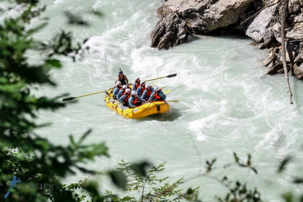 River rafting on the Kicking Horse River in Golden, B.C.