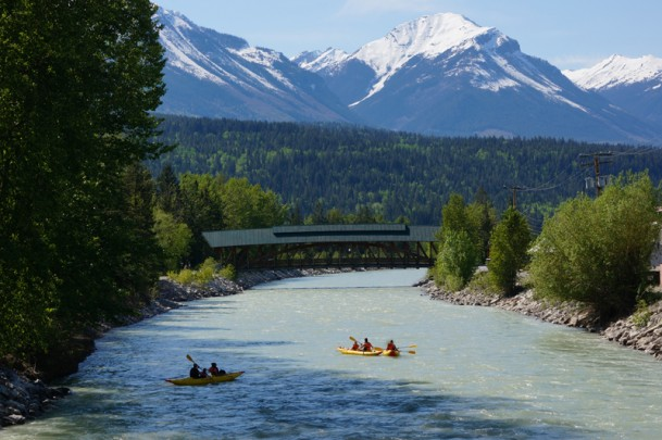 Kayaking through Golden, B.C. with Glacier Raft Company