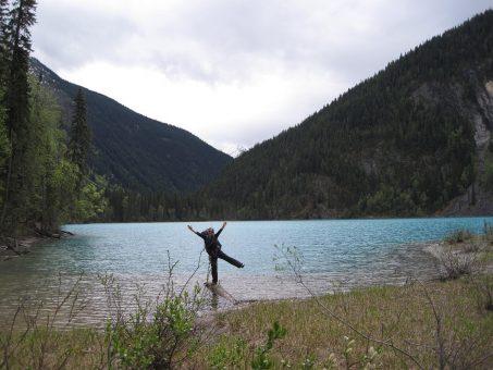 Hiking near Jasper Alberta