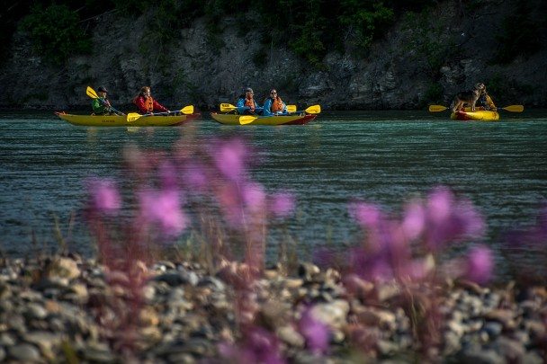 Evening kayak trip in Golden B.C.
