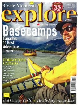 Glacier Raft Company in Golden BC on cover of Explore Magazine
