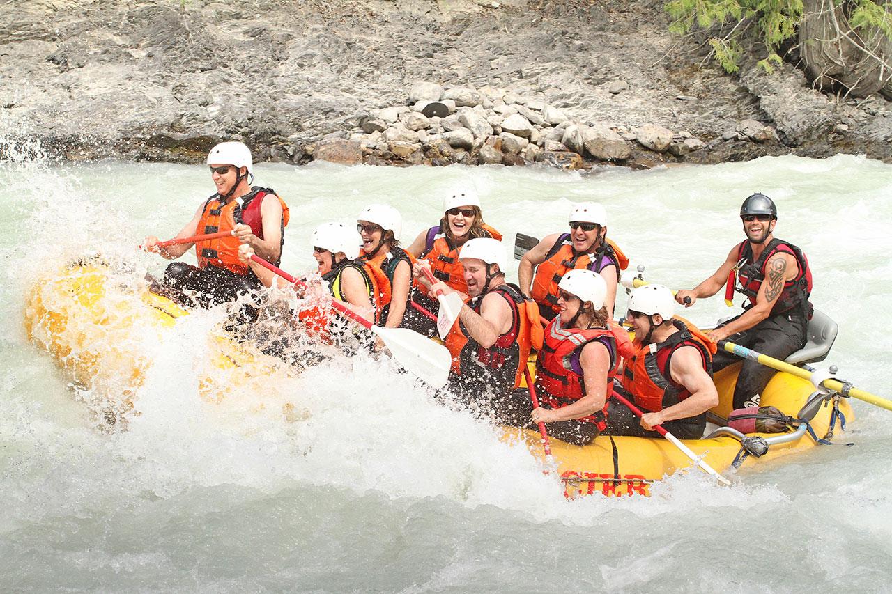 Class 3 rapids in Golden, BC.