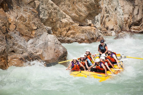 White Water Rafting on the Kicking Horse River in Golden, B.C.