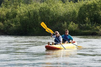 Kayaking with your partner.