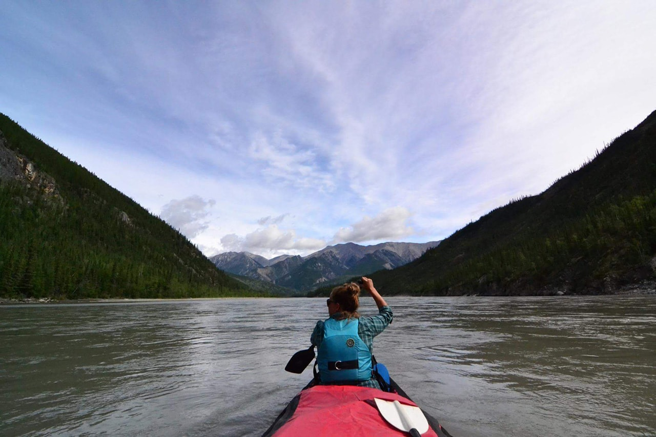 Glacier Raft Company staff member Jamie VanDrunen