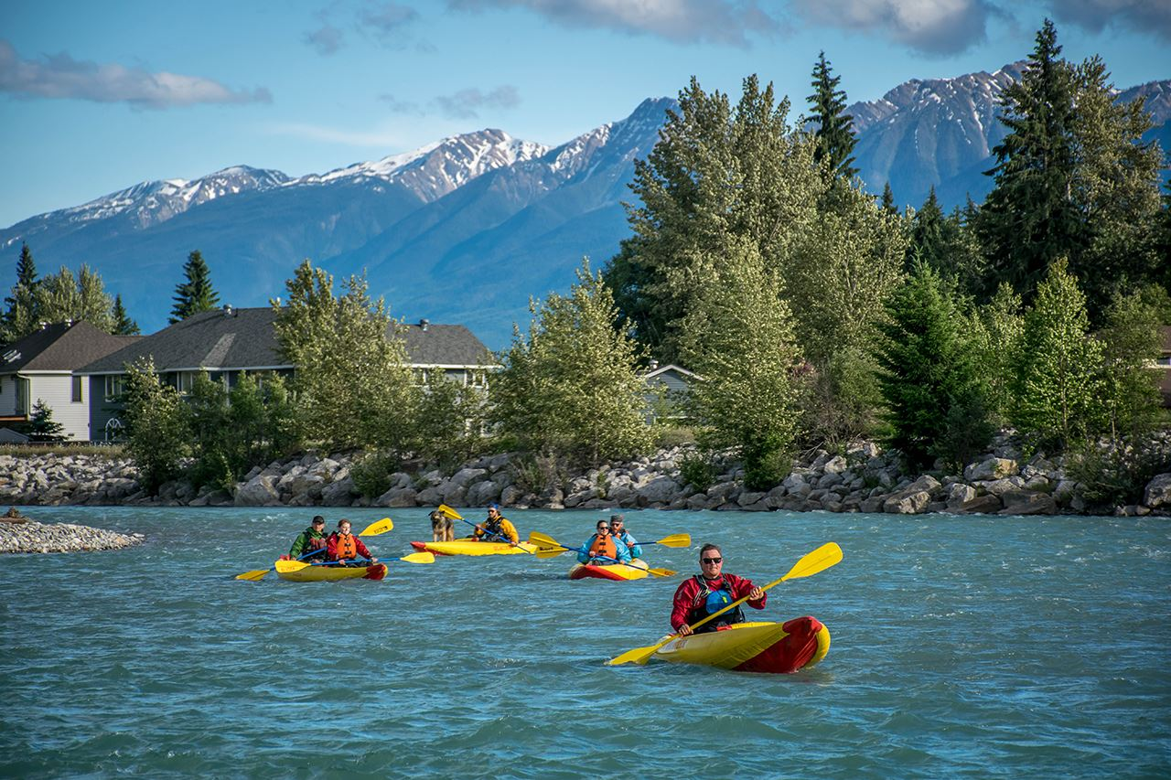 Inflatable kayaks rentals Golden, BC available summer 2021