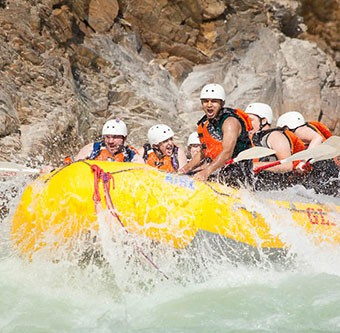 Class 4 rafting in the rockies.