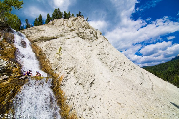 Climbing waterfalls with Glacier Raft Company