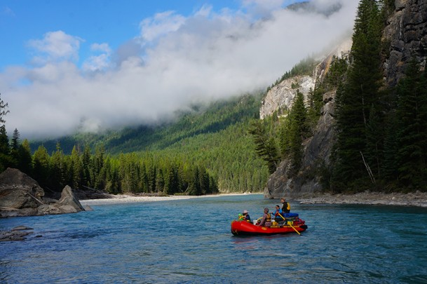 Rafting the Kootenay River in Kootenay National Park