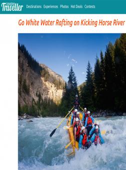 Glacier Raft Company featured in Canadian Traveller