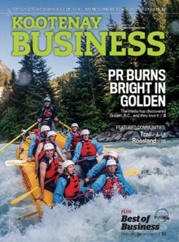 Glacier Raft Company on cover of Kootenay Business Magazine