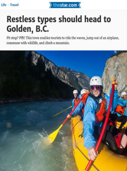 Toronto Star features river rafting in Golden BC with Glacier Raft Company