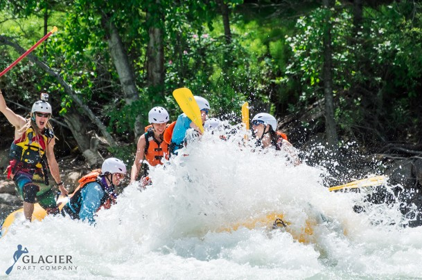 White Water Rafting on the Kicking Horse River