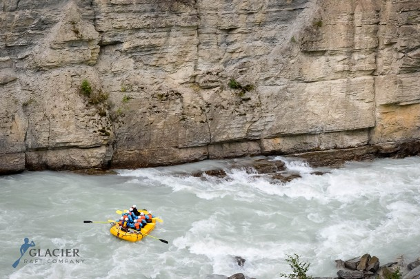 River rafting in Golden B.C. on Kicking Horse River