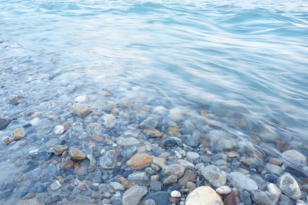 Water in the Kicking Horse River in Golden BC