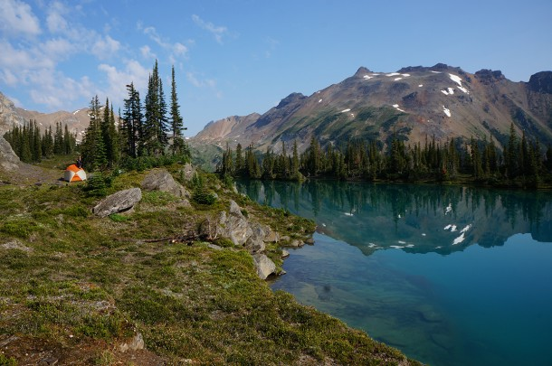 Hiking and camping at Holt Lakes near Golden, B.C.
