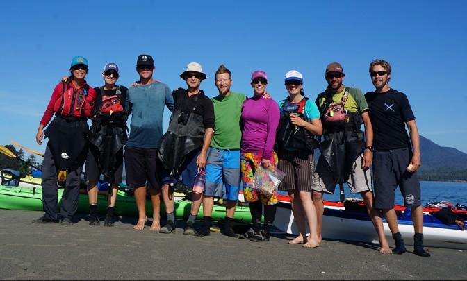 Sea kayaking near Vancouver Island