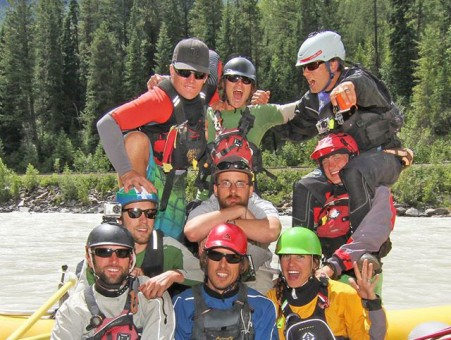 The Glacier Raft Company crew - guides and drivers