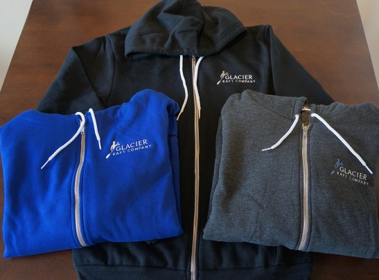 Christmas Gift Idea - American Apparel Hoodies From Glacier Raft