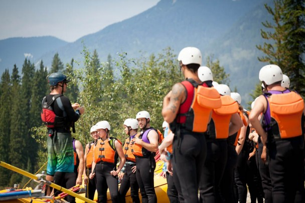 Safety is our top priority, and our team of professional guides spend time with guests to go over river safety before heading on the water.