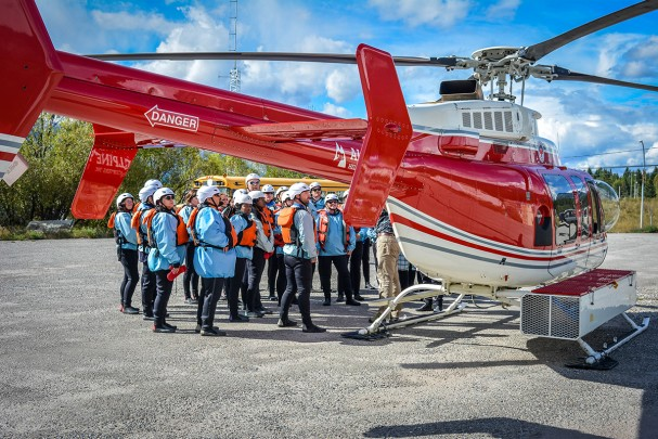 Safety chat for heli rafting in Golden British Columbia