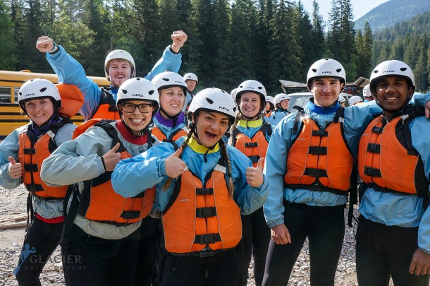 Rafting the Kicking Horse River near Banff Alberta